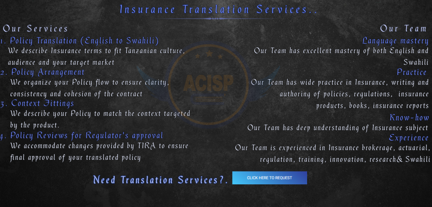 Insurance Translation Services